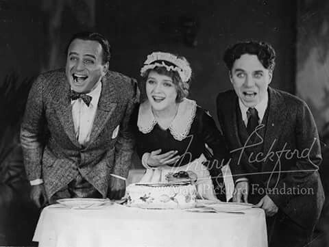 Douglas Fairbanks, Mary Pickford and Charlie Chaplin