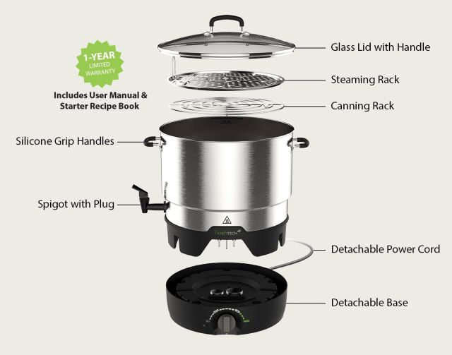 Ball FreshTech Electric Water Bath Canner & Multi-Cooker Review & Giveaway ~ http://steamykitchen.com