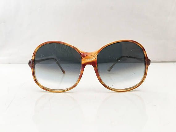 1970s Sunglasses // 70s OVERSIZED Sunglasses Turtleshell Frame