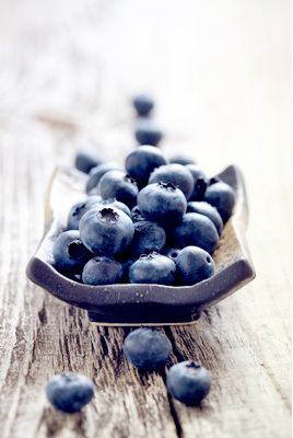 Blueberries.  Believe me when I say that the antioxidants in blueberries will improve your skin.  I got so many compliments and questions.  What  are you using on your skin?  Ate fresh blueberries every morning.