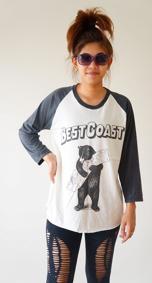 Size S M L  Best Coast TShirts Indie Rock Shirts by cottonclick, $18.00