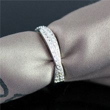 49% off White Crystal Engagement Rings for Women Sterling Silver Jewelry Black CZ Diamond Ring Ladies Jewellery 2015 Ulove Y022