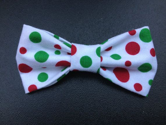 Christmas Polka Dots Bowtie for Cat / XS Dog by TheEmPURRium, $4.50