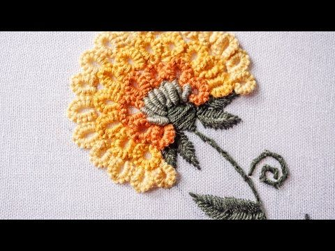 Hand Embroidery Design | Stitching Tutorial by Hand | HandiWorks #89 - YouTube