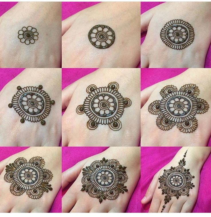 Step by step henna design