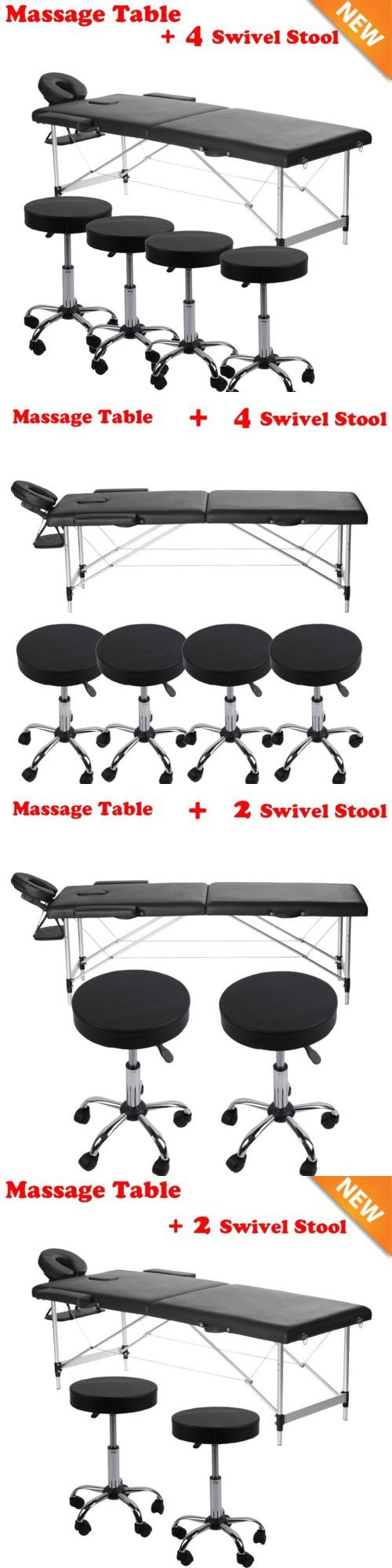 Salon and Spa Supplies: Adjustable Salon Spa Black Massage Bed Tattoo Chair Table Beauty Basket W Stool -> BUY IT NOW ONLY: $124.84 on eBay!
