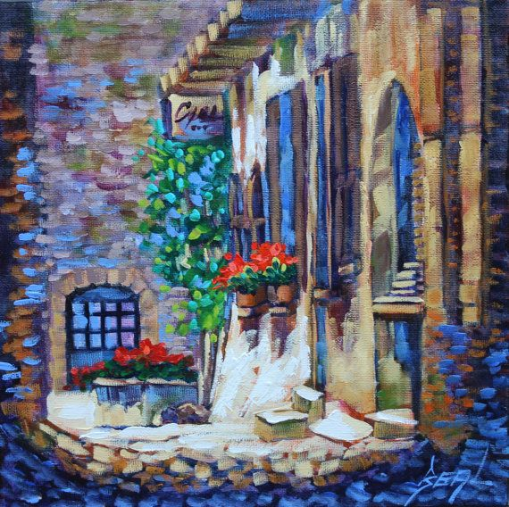 Painting Original Oil Artist Impressionism Old by rbealart on Etsy