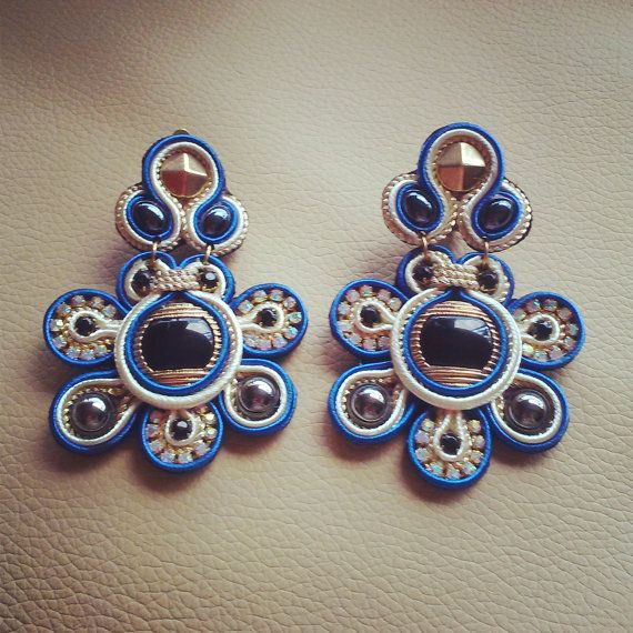 Original Soutache Earrings Margarita Design by LittleVeniceDesign