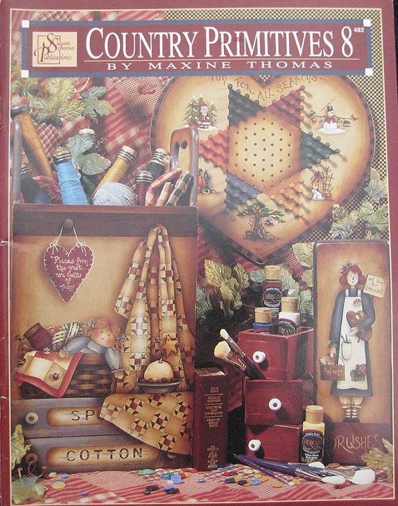Country Primitives 8 Tole Painting  Pattern Book by TheHowlingHag