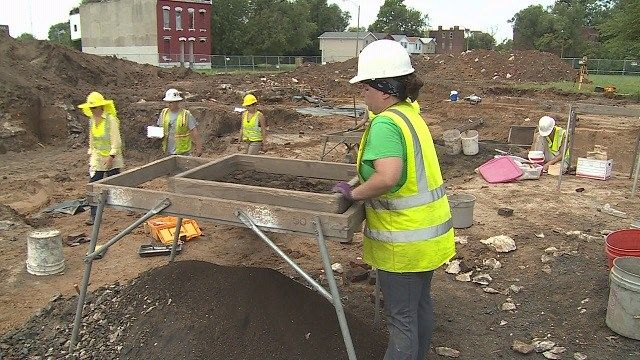 Archaeologists digging at future NGA site. Before construction begins on the grounds for the National Geospatial Intelligence Agency in north St. Louis, archaeologists are digging up about two dozen sites...