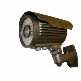 "Camera tip all in one, de exterior/interior cu un senzor de 1/4"" SHARP si o rezolutie video de 420 linii TV; Sensibilitate ridicata (pentru mediu cu iluminare redusa); Leduri IR la 60 m; Lentila varifocala: 8-20 mm; Grad protectie: IP66; Dimensiune: 240 x 186 x 100 mm; Alimentare: 12 VDC; Carcasa neagra; Suport cu cablu de interior inclus."