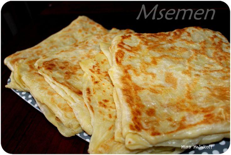 Msemen - crêpes marocaine.