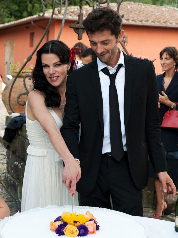 Gabriele Corcos and Debi Mazar looking happy together
