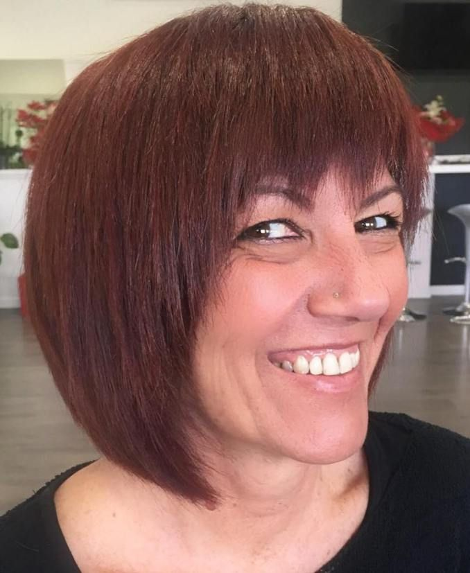 bob haircut with bang 17 best ideas about razored bob on razor cut 2680 | 7f16da5a3aecd46b4f0f3016569876ea