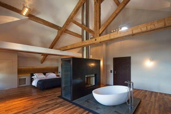 umbau denkmalgesch tztes bauernhaus dachboden pinterest bauernhaus umbau und wohnraum. Black Bedroom Furniture Sets. Home Design Ideas