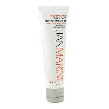 Jan Marini Antioxidant Daily Face Protectant SPF 30 Tinted Sunkissed Bronze 2 oz by Jan Marini. Save 72 Off!. $22.00. 57g/2oz. A non-greasy tinted daily sunscreen for face Contains microscopic oil absorbing particles to form a velvety skin-conditioning matte surface Formulated with antioxidants Beta Glucan & Phytomelanin for anti-aging benefits Enhances protection against damage caused by UV exposure Offers superior skin hydration & skin recovery effects Provides a broad-spectru...