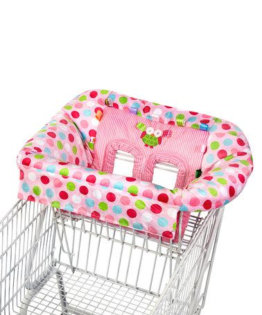 Take a look at this Pink Polka Dot Owl Plush Cart Cover by Taggies on #zulily today!
