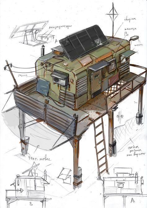 ArtStation - habitable modules, Vasily Khazykov
