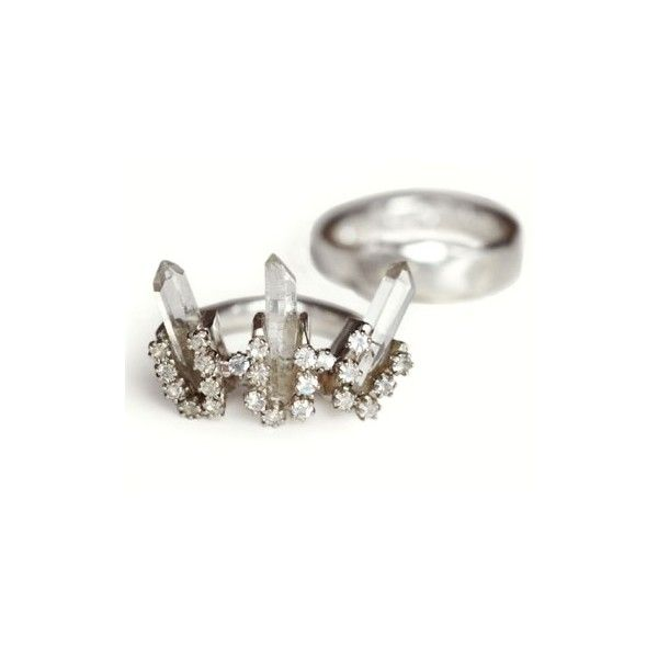 Unearthen Heirloom Ring Set Silver ($880) ❤ liked on Polyvore featuring rings, jewelry and unearthen