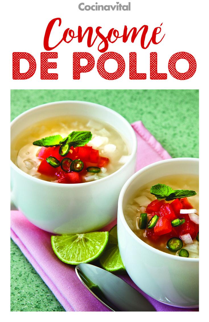Encuentra aquí la clásica receta de consomé de pollo blanco con arroz. ¡Prepáralo y reconforta el alma! Perfecto para entrar en calor en estos días fríos. #recetas #recetasclasicas #recetasdemama Bouillon Recipe, Norman, Food To Make, Cooking, Ethnic Recipes, Gastronomia, Recipes, Mexican Food Recipes, Soups