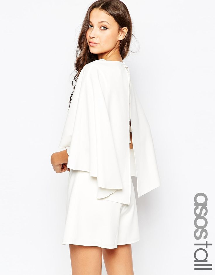 ASOS TALL Playsuit with Cape Sleeve | $75 Reg. $29 Sale