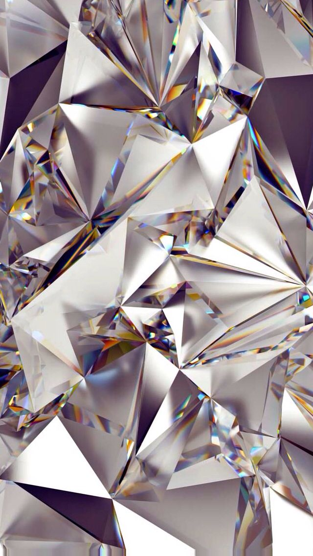 Reflections, Diamonds, Silver | iPhone 5 Wallpaper