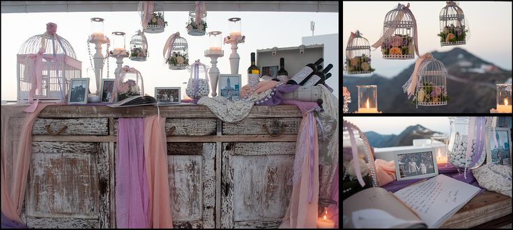wedding wish board in Santorini