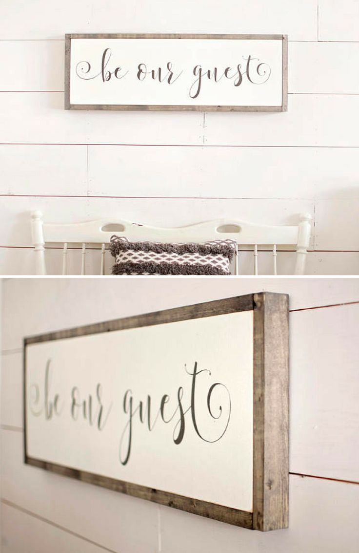 Wood Signs | Be Our Guest Wood Sign | Be Our Guest Sign | Framed Wood Signs | Guest Room Wall Decor #affiliate #homedecor #rustic #farmhouse #homedecorideas