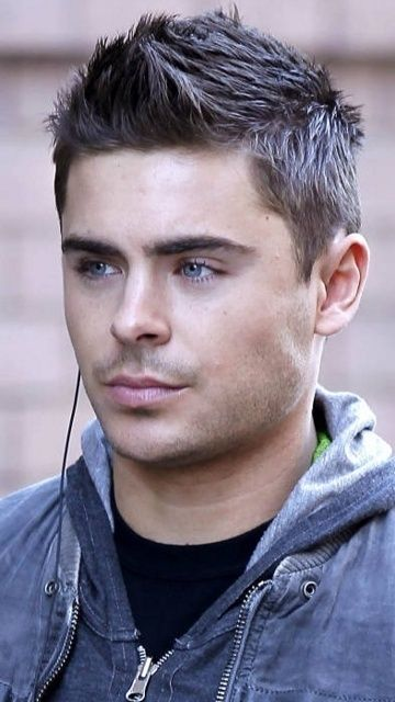 Zac Efron - His hair is awesome and his eyes are gorgeous