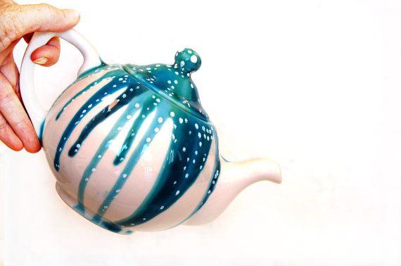 Teapot with Abstract look for the Modern Home by Dprintsclayful