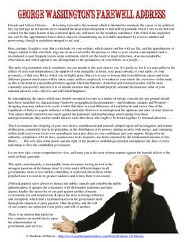 george washingtons warning about the dangers of the separate parties in the farewell address Excerpts from george washington's farewell address, september 19, 1796 to give it an artificial and extraordinary force — to put in the place of the delegated will of the nation, the will of a party often a small but artful and enterprizing minority of the community and, according to the alternate triumphs of different parties.