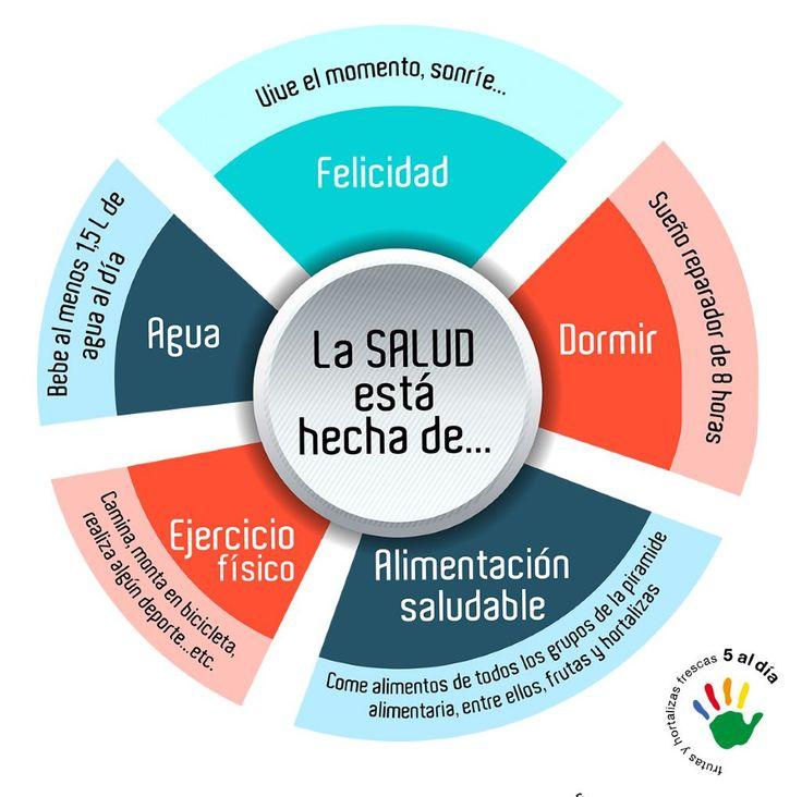 Infografías `5 al día` Espanol 2 Vida Saludable