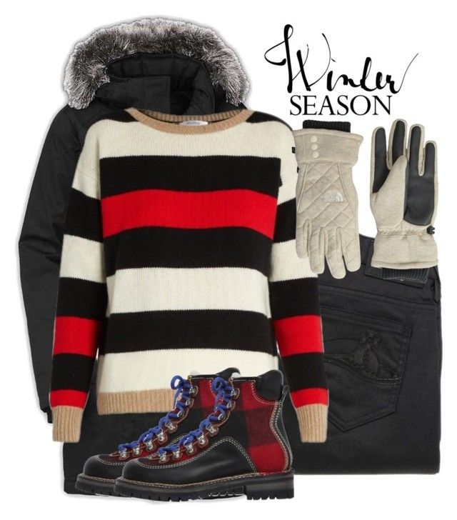 """Winter Season - Five or less"" by curvygirlamy ❤ liked on Polyvore featuring The North Face, Vivienne Westwood Anglomania, MaxMara and Dsquared2"