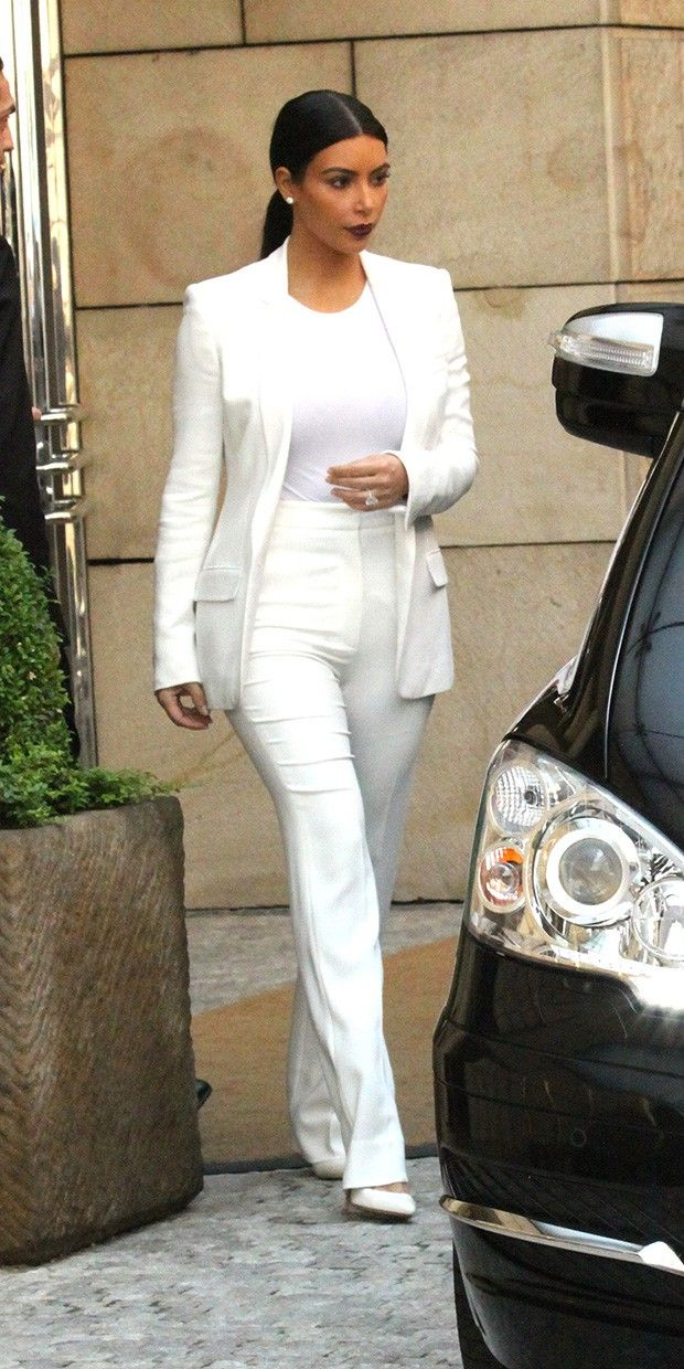 bf blazer for busty girls...Kim Kardashian Is White Hot On Her Honeymoon