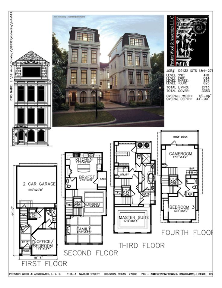 1902 best images about floor plans on pinterest house for Small townhouse plans