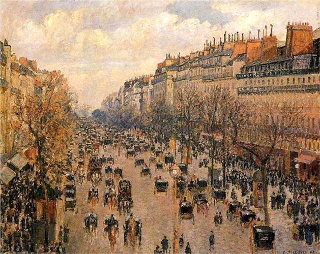 Камиль Писсарро. «Бульвар Монмартр в Париже». 1897 г.