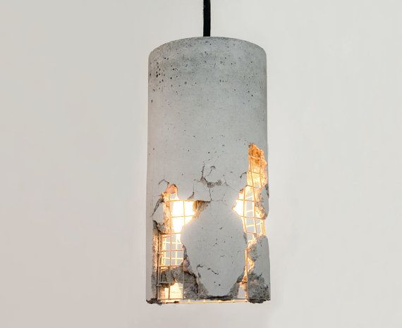 LJ Lamps delta  concrete pendant lamp by LJLamps on Etsy #etsy #industrial