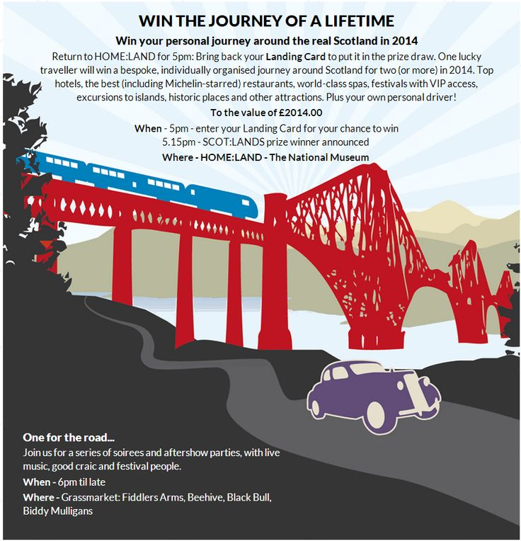 Prizes to be won for those who attend Scot:Lands event on 1 January 2014 in Edinburgh - click the image to find out more.