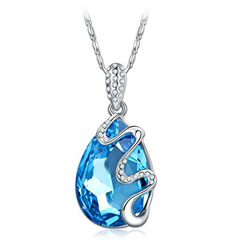 PAULINE & MORGEN Rotating elf Necklace for Women with Swarovski crystals and 925 sterling silver chain CoH4gEqt1Q