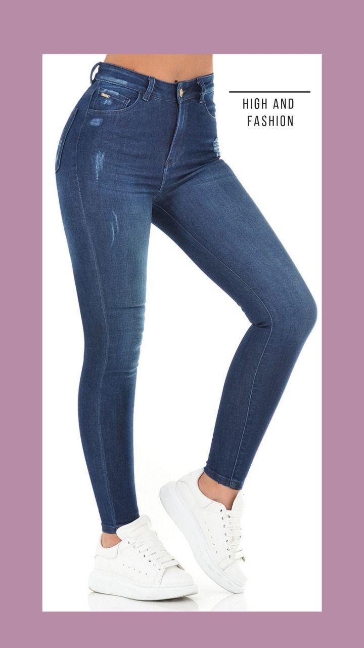 Fashion Jeans Azul Oscuro Jeans De Moda Moda Azul