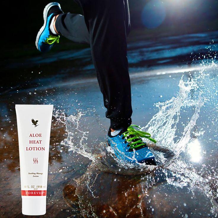 Buiten sporten met dit weer? Geniet na afloop van de verwarmende bestanddelen in Aloe Heat Lotion! Ideaal voor de spieren na het sporten.