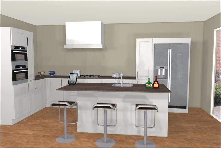 Ontwerp van keuken met kookeiland