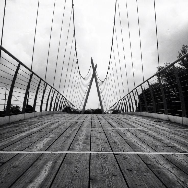 #iocorroqui Seriate, ponte sul fiume Serio