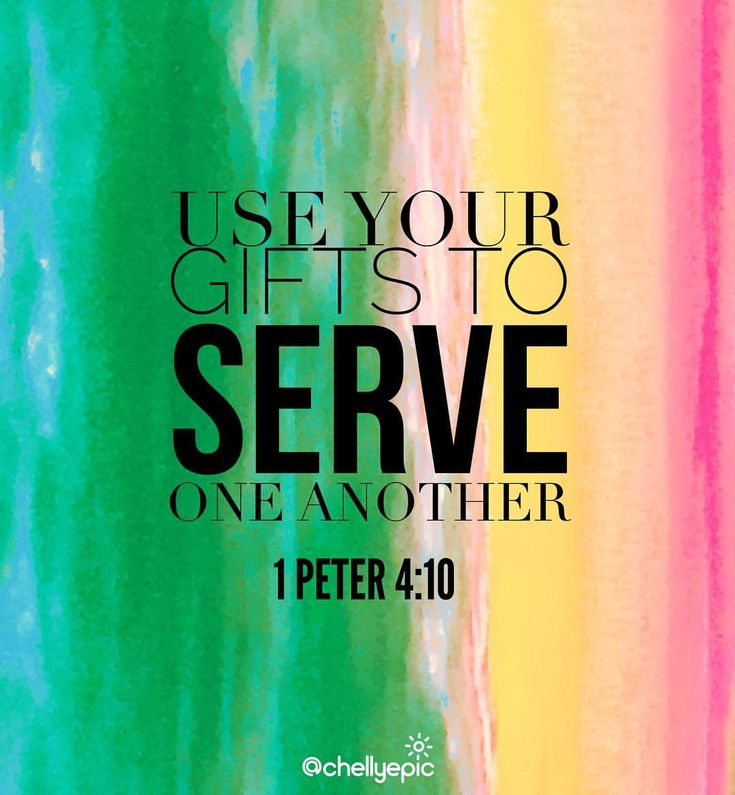 God has given each of you a gift from his great variety of spiritual gifts. Use them well to serve one another.  1 Peter 4:10 @chellyepic