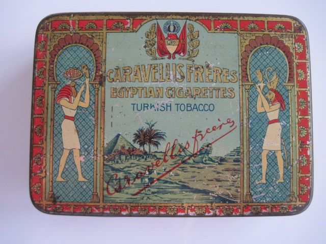 Excited to share the latest addition to my #etsy shop: Caravellis Freres Royal Egyptian Cigarette Tin (25/empty) c.1930 http://etsy.me/2CpgmOd #vintage #collectables #cigarettetin #tobaccocollectibles