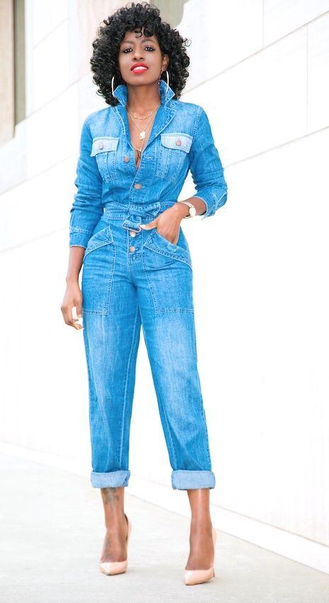The 25  best Denim jumpsuit ideas on Pinterest | Jeans jumpsuit ...