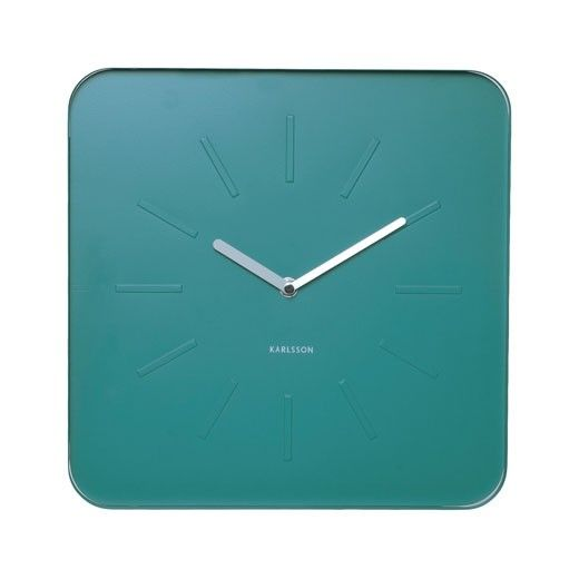 If teal is your thing and industrial is your thing you'll love this Powder Coated Steal Karlsson clock!  http://themirrorbox.bigcartel.com/product/karlsson-designer-wall-clock-teal-cube