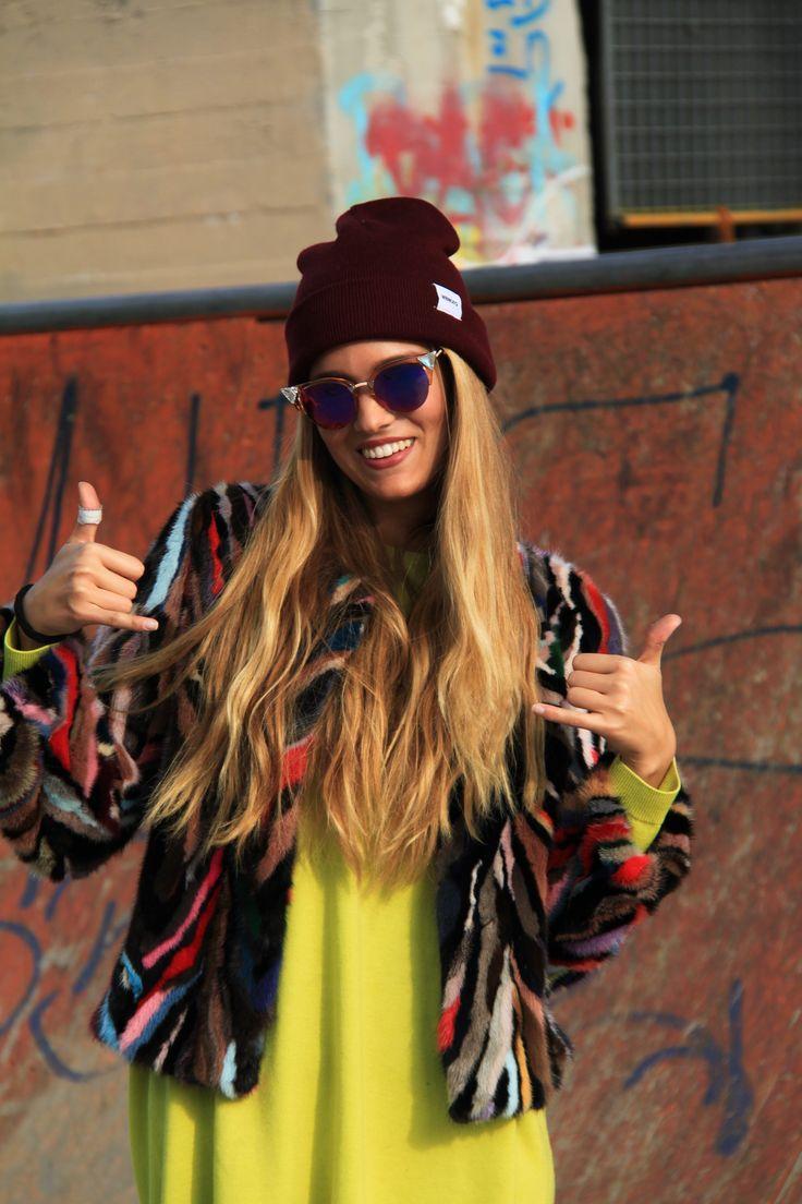 Multicolor mink jacket by Borello Torino