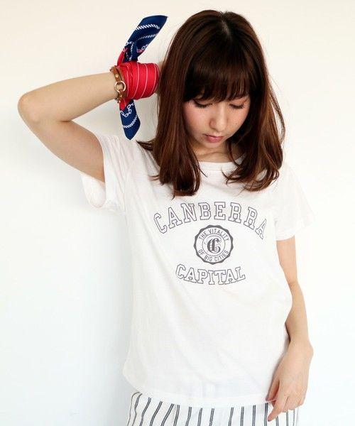 N. Natural Beauty Basic(エヌ ナチュラル ビューティ ベーシック)のカレッジロゴTシャツ(Tシャツ/カットソー)|ホワイト系その他