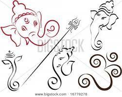 Resultado de imagen para ganesha dibujo